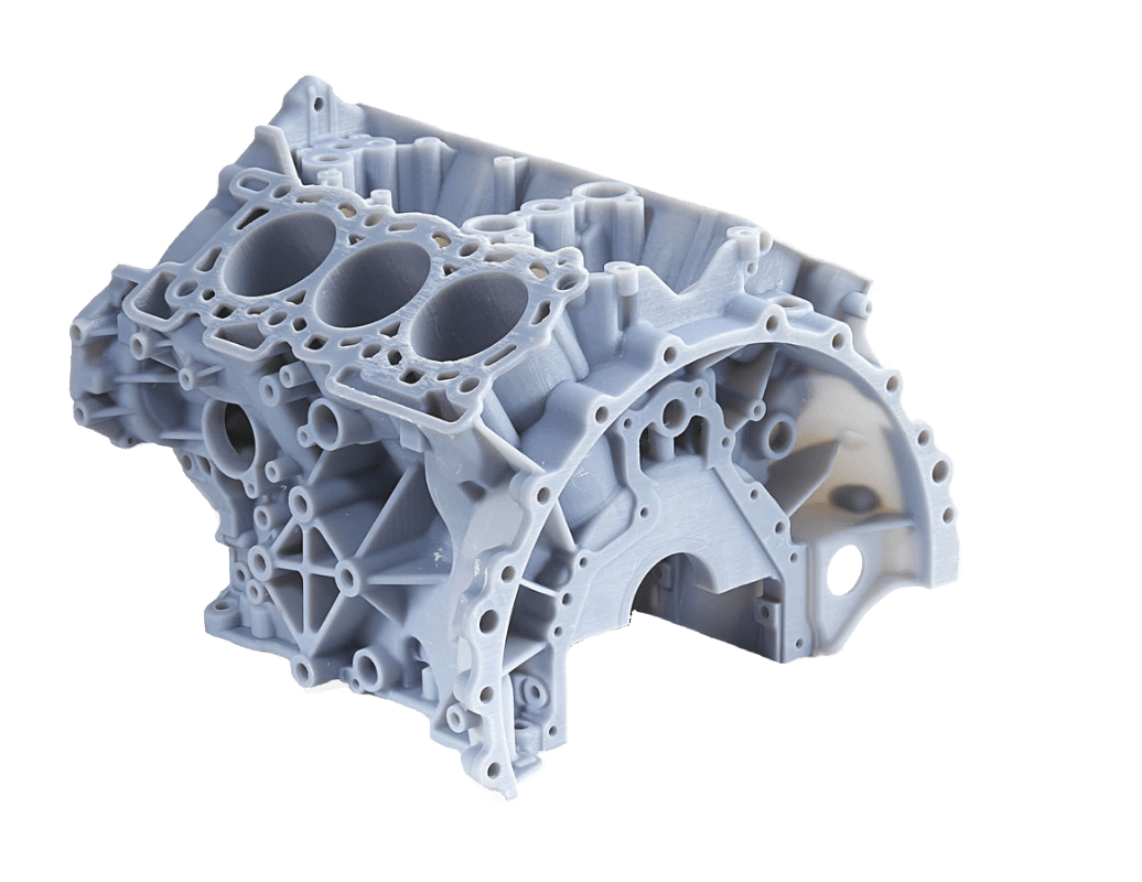 Material Jetting Engine Block