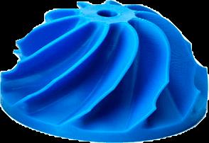 Digital Light Processing piece died blue
