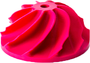 Digital Light Processing piece died pink